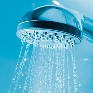 image of shower with filtered water