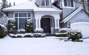 image of maryland home in winter